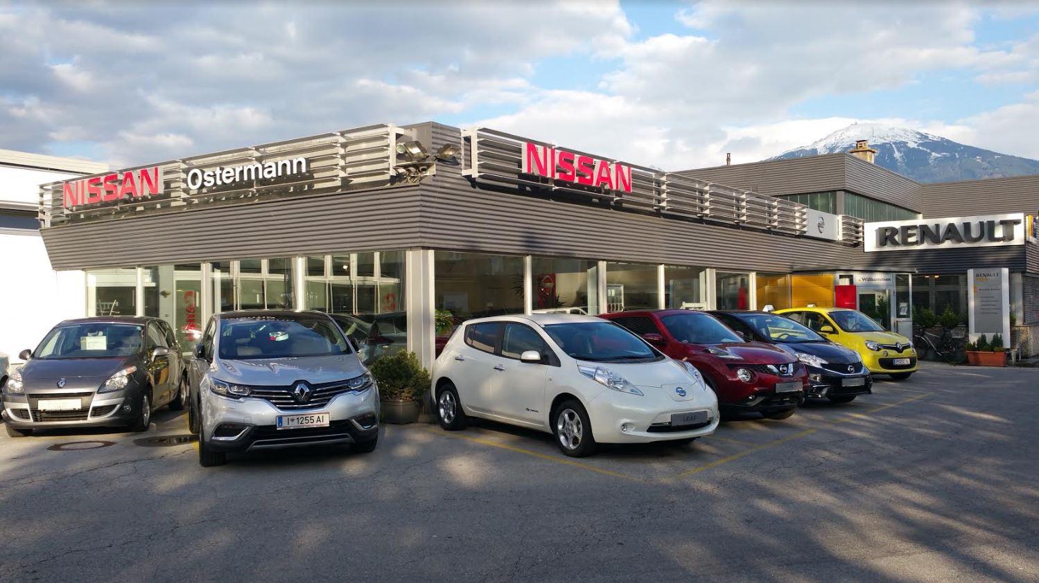 Aussenansicht Autohaus Ostermann Innsbruck