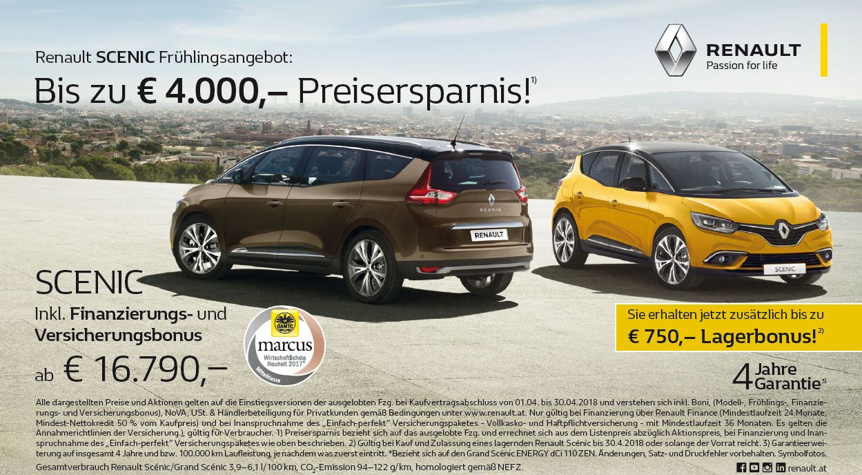 Renault Scenic Aktion