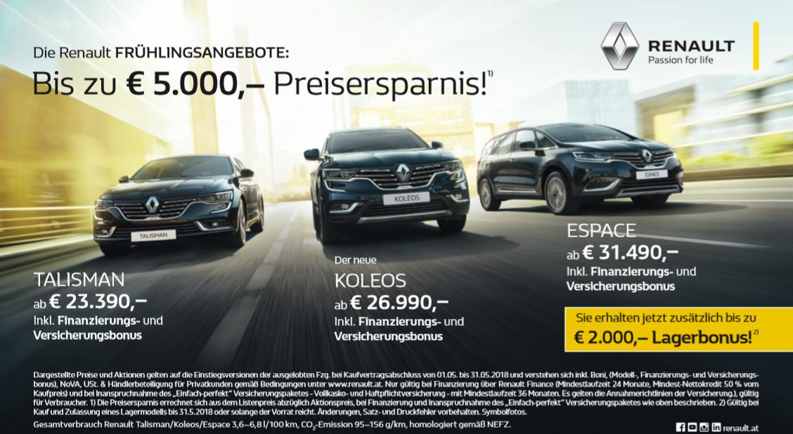 Renault Talisman Koleos Espace