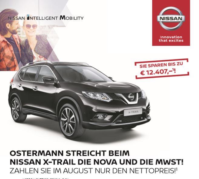 Nissan X-trail Aktion